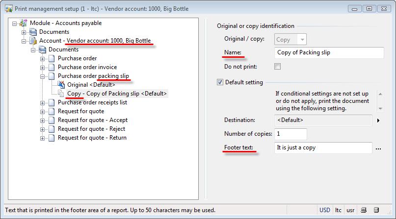 Vendor print management setup. Add new document.