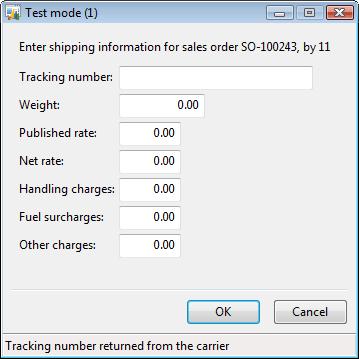 Test mode form