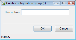 Create configuration group form