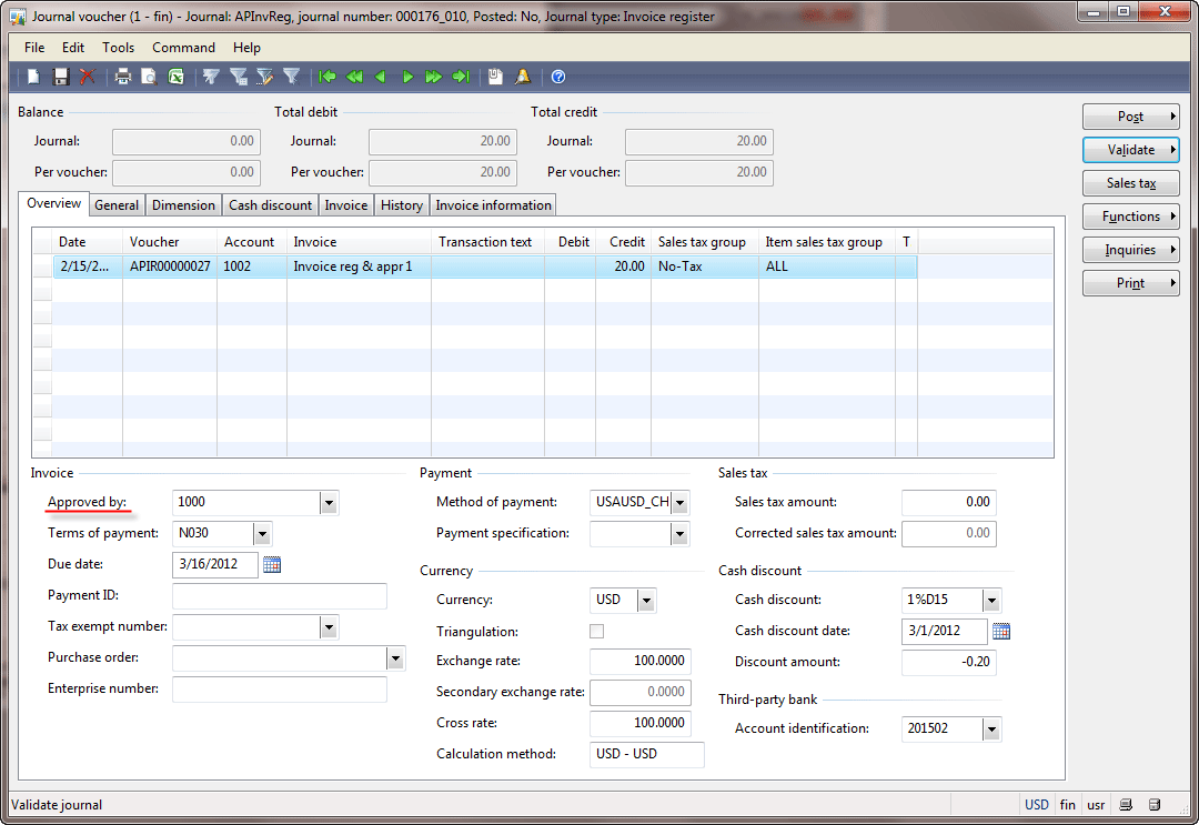 voucher templates dynamics ax finance sle format of