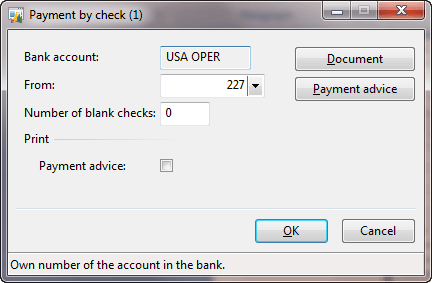 Payment by check form