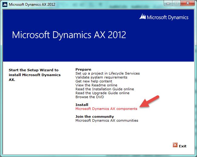 DynamicsAx Inital window